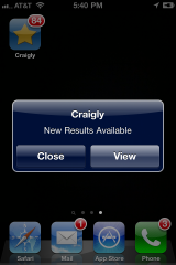 Craigly adds search monitors (a free alternative to push notifications)