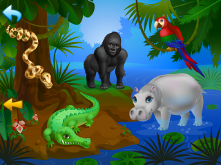 Go on Safari with Animals for Tots iPhone app!