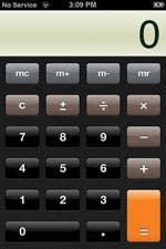 iPhone Calculator Portrait mode