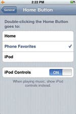 Home button screen