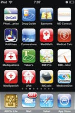 Medical apps installed on my iPhone