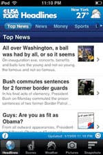 Usa Today on the iPhone