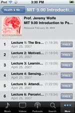 iPhone version of iTunesU