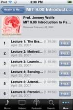 iPhone version of iTunesU
