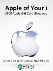 Win A $500 Apple Gift Card With e-Cycle's Apple of Your i Giveaway – Sell and/or Recycle Your Business Cell Phones and Win!