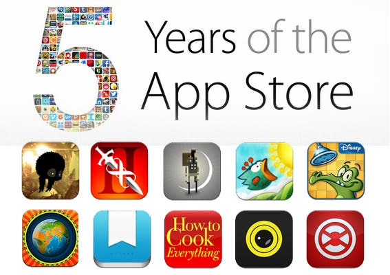 Free Apps for 5th Anniversary
