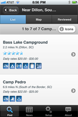 CampingRoadTrip.com has Released a New iPhone App that Puts 14,000 Campgrounds and RV Parks in the Pocket of Campers and RVers