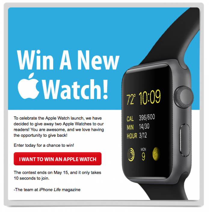 Last Chance to Enter to Win an Apple Watch from iPhone Life!