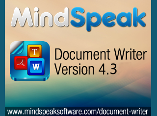Mindspeak Software Announced Document Writer Update 4.3