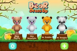 Dress the Fluffy Teddy Bears in the Virtual World of Bear Dress up Game - Free for iOS and Android