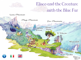 Eliseo and the Creature with the Blue Fur an Interactive Book for iPad