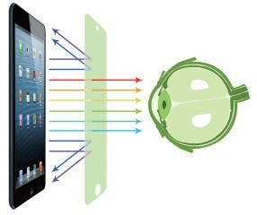 Konnet Care Vision Protective Shield for Smartphones & Tablets Filters Out 99.99% of UV Light with Highest Transparency