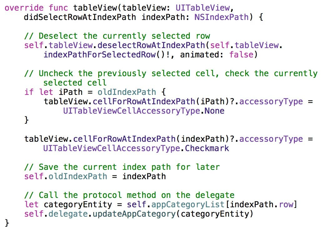 didSelectRowAtIndexPath method