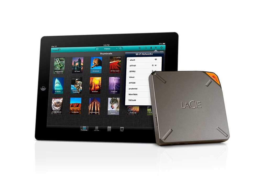 CES 2014: Meet the Lacie Fuel, a Wireless, Streaming and Portable Hard Drive.