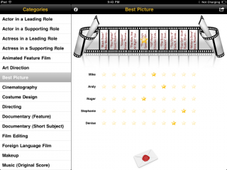 Awards Party & Awards Party Remote 1.1 for iPad/iPhone Released