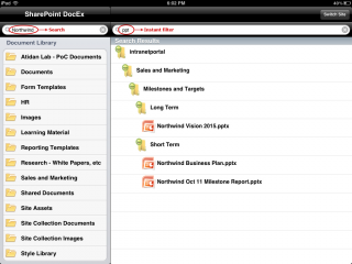 Microsoft SharePoint Documents on iPad and iPhone - DocExplore by Atidan