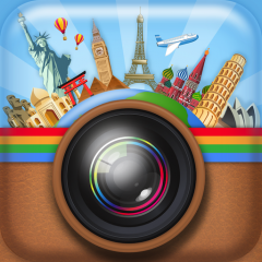 InstaTravel The first app with fun travel and city stickers for all globetrotters, now available on iPhone and iPad