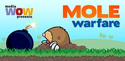 Mole Warfare for iOS and Android - Use your accelerometer to blow up small mammals