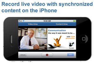 Record live video with synchronized content on the iPhone and iPod Touch