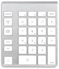 NewerTech Wireless Numeric Aluminum Keypad for iOS & Other Bluetooth Devices Reduces Errors, Increases Speed for Accountants, Students, & Teachers