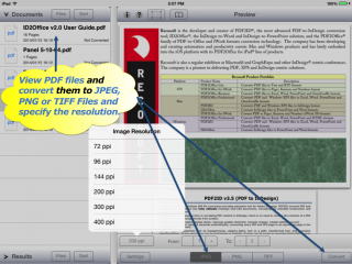 Recosoft ships PDF to JPEG, PNG and TIFF converter apps for iPhone and iPad