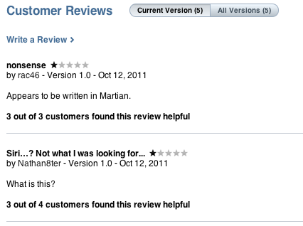 Siri reviews