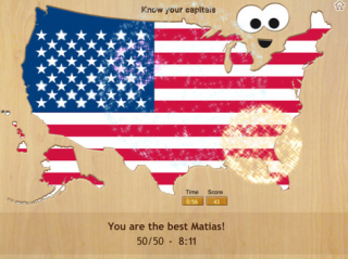 Wood Puzzle USA makes learning states and capitals fun!