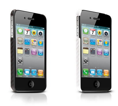 TuneWear CarbonLook case in black or white