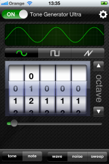 Tone Generator Ultra - Free iPhone App