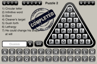 Word Triangle 1.0 introduced for iPhone/iPad - Free Addicting Word Game