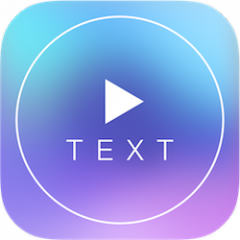 i-App Creation Released Text on Video Square Let's your video tell story