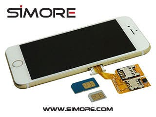 SIMore X-Triple 6 - How to convert your iPhone 6 / 6 Plus to Dual or Triple SIM  with the Triple SIM adapter X-Triple 6