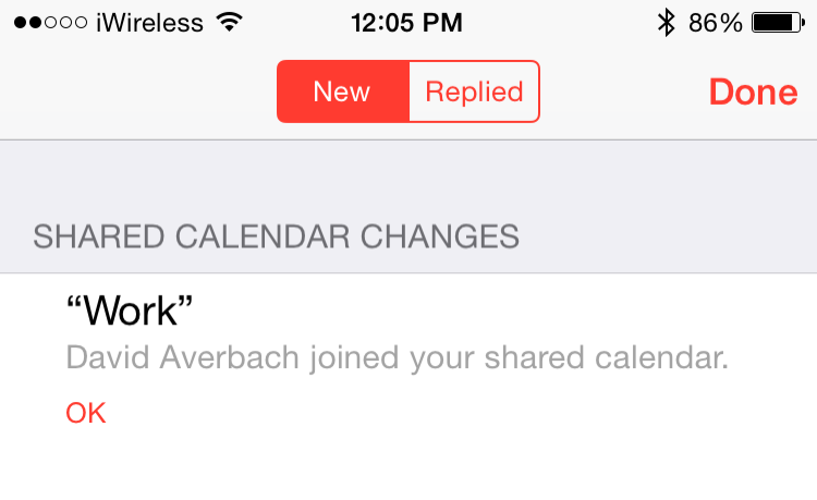 how to delete a shared calendar on iphone
