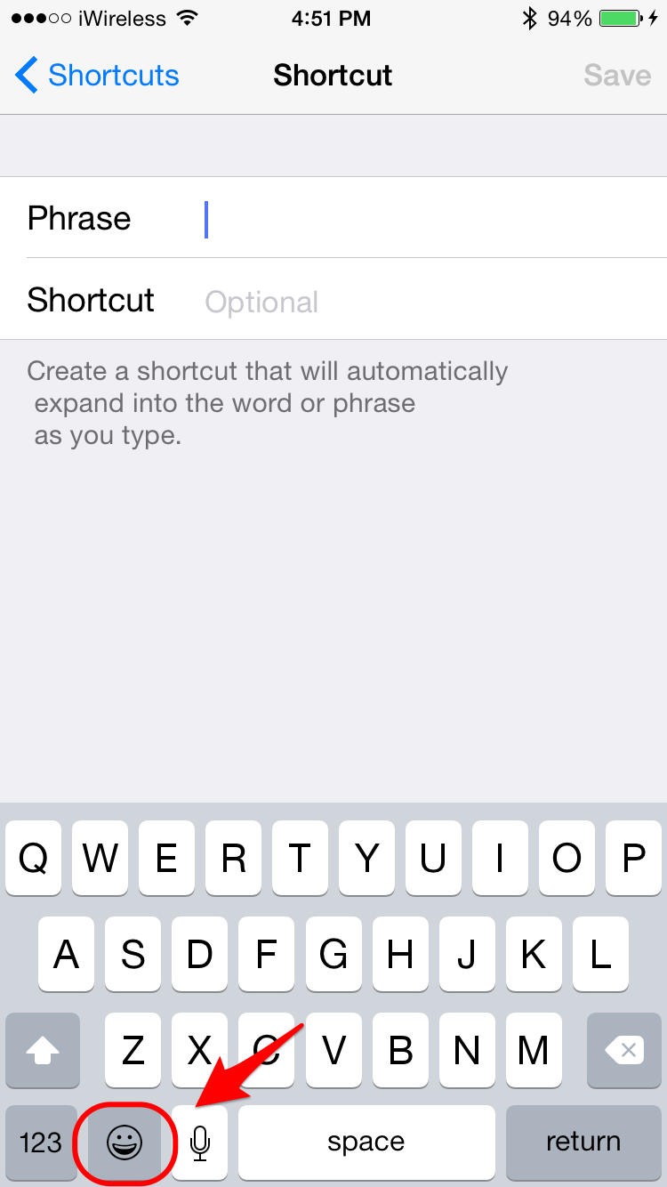 how to use emoji shortcuts instead of switching keyboards