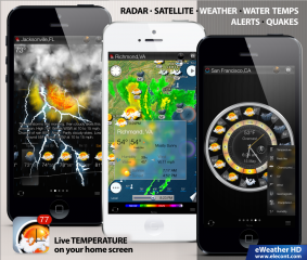 eWeather HD 3.1 introduces photorealistic animations, future weather maps and better performance