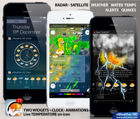eWeather HD 3.3 adds new 10-day weather forecast widget for iOS 8, barometric sensor support and more