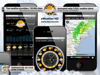 Elecont software releases its powerful weather application eWeather HD 2.4 for iPhone and iPad
