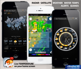 eWeather HD 3.0 gets iOS 7 revamp, social media integration and new weather data.