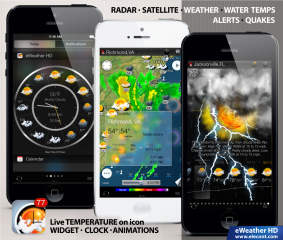 eWeather HD 3.2 - the best weather widget for iOS 8, iPhone 6 and iPhone 6 Plus