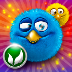 The Fluffies: Unangry birds. iPhone game