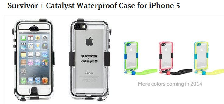 approved survivor catalyst waterproof case for iphone 5 amazon Colaner the Executive