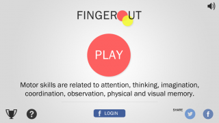 FingerOut - iPhone / iPad game to improve your motor skills