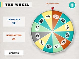 The Wheel: A party game for 4 players and 1 iPad.