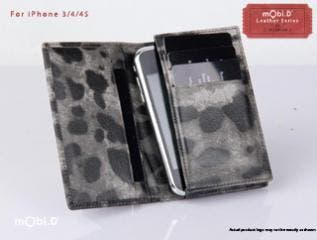 iPhone Camouflage Genuine Leather Wallet