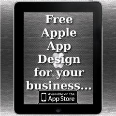 Promotion - Free no obligation Apple App design for your business