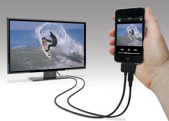 play movies from iphone to tv enjoy on your big screen with scosche sneakpeek ii 6383