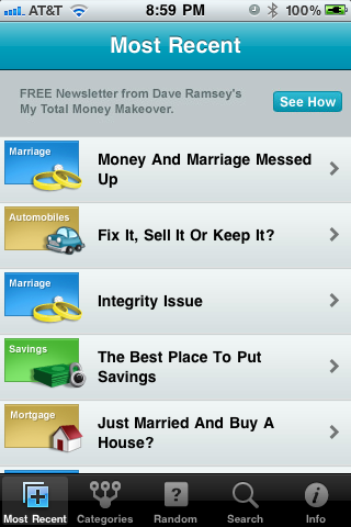 App Review - Ask Dave Ramsey | iPhoneLife com
