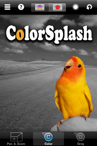 ColorSplash splash screen