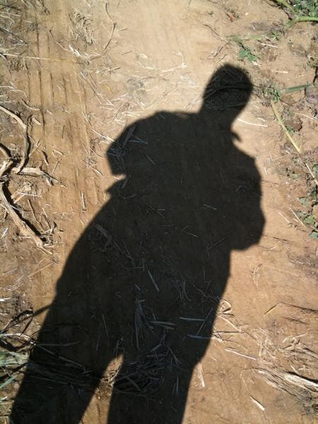Your shadow as a self-portrait.