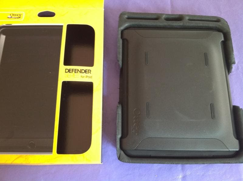 iPad Defender case, with screen cover in place